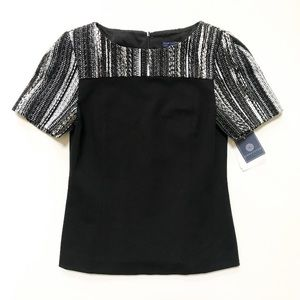 Doncaster Black & White Top